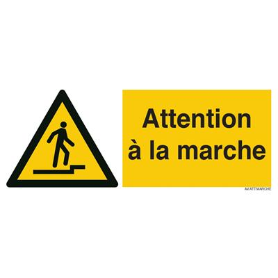 Panneau signalant attention marche