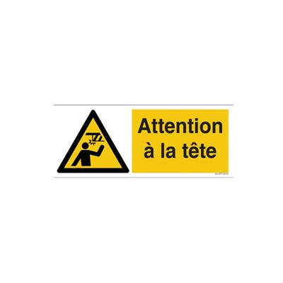 Panneau attention tête
